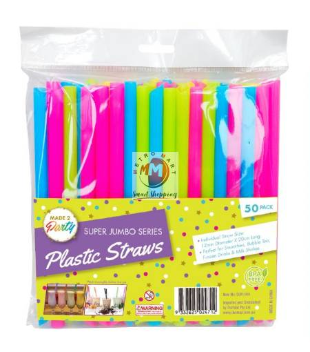 Picture of Super Wide Jumbo Party Straws-50PK