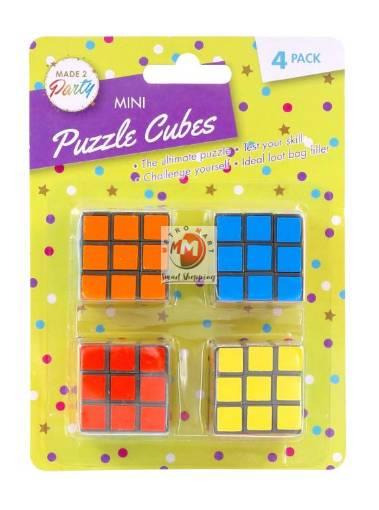 Picture of 4PK Mini Novelty Puzzle Cubes