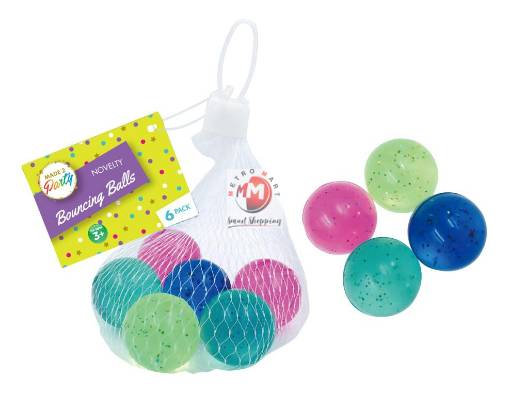 Picture of Loot Bag Party Fillers - Bouncing Balls- 6PK