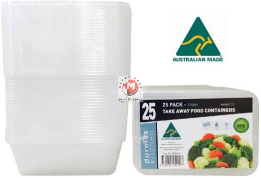 Picture of 25PK 750ML Bulk Pack Take Away Containers Australian Made