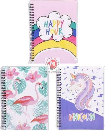 Picture of Sprial Series Notebook - Unicorn, Flamingo & Happy Hour (D)