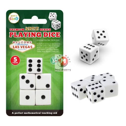 Picture of 5PK Premium Acrylic Series Playing Dice