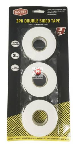 Picture of 3PK Double Sided Tape-1.8CM x 2MTR