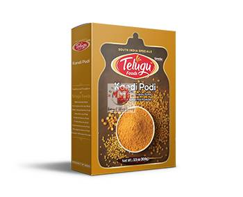 Picture of Telugu Foods Kandi Podi Lentils Spice mix powder 100g