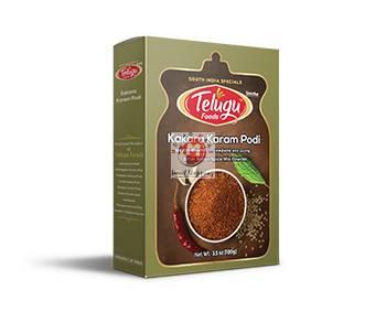 Picture of Telugu Foods Kakara Karam Podi bitter melon spice mix powder 100 g